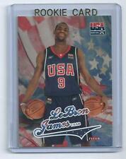 2003-04 FLEER LEBRON JAMES USA BASKETBALL ROOKIE CARD+FREE JAMES ROOKIE PROMO $$
