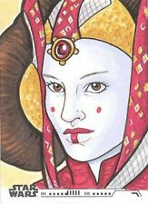 2020 Topps Women Of Star Wars Queen Padme Amidala Sketch Card By Mai Irving RARE