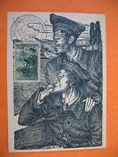 Carte Maximum 1941 N° 474  Prisonniers de guerre - Exposition du prisonnier