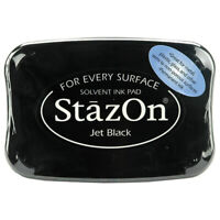 StazOn - Permanent Solvent Ink Pad - Jet Black For Glass