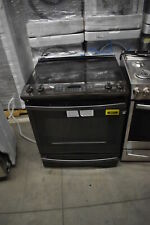 "Ge Js760Blts 30"" Black Stainless Slide-In Electric Range Nob #39919 Clw"
