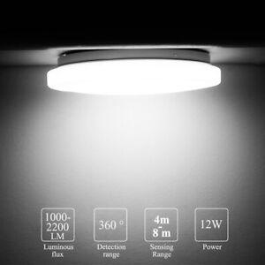 Modern LED Ceiling Light RADAR/PIR Motion Sensor Bathroom Kitchen Bedroom Lamp