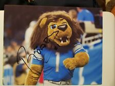 Roary signed 8x10 photo Detroit Lions mascot Stafford Golladay autographed b
