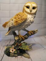BARN OWL FIGURE FIGURINE ORNAMENT # STATUE ENGLISH COUNTRYSIDE owl FIGURE NEW