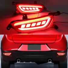 Car LED Rear Bumper Lamp Reflector DRL Fog Brake Lights for Mazda CX-3 2016-2017