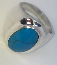 Vintage Taxco Turquoise Sterling Silver Ring