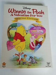 Winnie the Pooh: A Valentine for You Special Edition DVD card new factory sealed