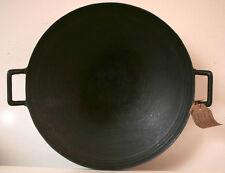 Pre Seasoned Wok 43cm Light Weight Cast Iron Round Bottom.
