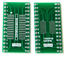SSOP28  SOP28 to DIP SMD to DIP28 Adapter PCB Board Converter Double Sides -2pcs
