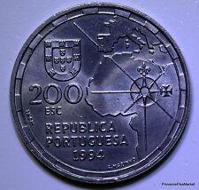 PORTUGAL 200 Escudos LE PARTAGE DU MONDE EN 1494   EJ 1994