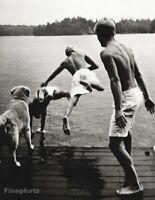 1987 BRUCE WEBER - Garth, Chris, Hoyt & Rowdy Dog Adirondacks Photo Gravure Art