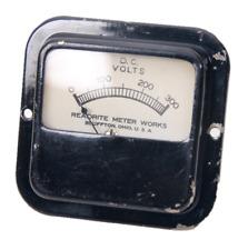 Vintage Readrite Meter Works Direct Current Volts Panel Meter Gauge 0 300