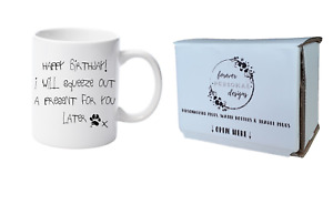 Funny Cat Mug 'Happy Birthday From The Cat' 11oz Mug by Forever Personal Designs