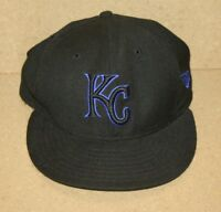 Kansas City Royals MLB Baseball Flat Bill New Era Hat Cap Black Size 7 59Fifty