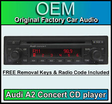 Audi A2 CD player, Audi Concert car stereo head unit Supplied with radio code