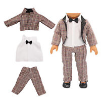 18 inch Boy Doll Clothes for American Doll - Brown Suit Jacket Coat Pants