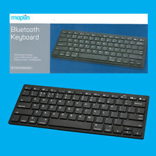 Maplin Compacto 10m Teclado inalámbrico con Bluetooth, Windows, Mac, Ipad/Iphone, Android