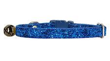 "deep blue sparkle safety kitten cat  collar 7""-10"""