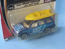 Matchbox Jeep Grand Cherokee Blue Body with Boat Toy Model Car75mm in BP