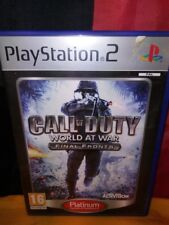 Call of Duty: World at War: Final Fronts (Platinum) - Sony PS2 PAL - With Manual
