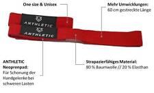 1 Paar ANTHLETIC Zughilfen, Bodybuilding, Fitness, Gewichtheben, rot