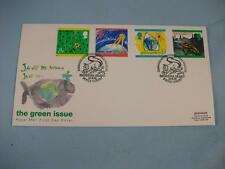 The Green Issue, Royal Mail FDI Stamp cover, Brownsea Island H/S, 15 / 9 / 92