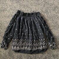joie off shoulder sequin beaded silk blouse, $298, Excellent Condition ,s
