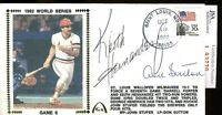 Keith Hernandez Don Sutton Jsa Authentic Signed 1982 World Series Fdc Autograph
