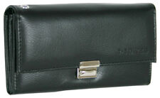Leather Waiter Purse Large Taxi Purse Ladies Men's Coin Compartment