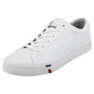Tommy Hilfiger Corporate Sneaker Mens White Casual Trainers