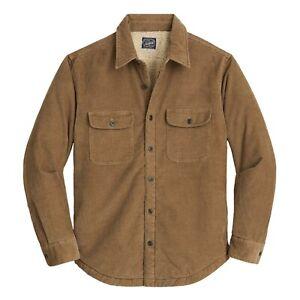 J.Crew Sherpa-Lined Workshirt Men's Cotton Blend Camel Stretch Corduroy Jacket