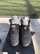 Air Jordan Retro 5 black metallic size 10