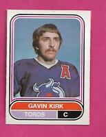 RARE 1975-76 OPC WHA # 103 TOROS GAVIN KIRK  ROOKIE NRMT CARD (INV# C0614)
