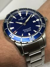 Perrelet Seacraft 777 Automatic Diver Watch Blue Dial 3,550$ Retail Full Boxes