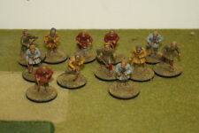 28mm 12 x Painted Gripping Beast Saxon Warriers with Slings Lion Rampant