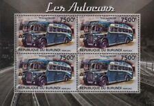 1951 Royal Blue BRISTOL L Type Bus LL6B Coach Stamp Sheet (2012 Burundi)