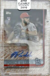 2019 Topps Clearly Authentic #CAA-DP 1984 Design RC Ponce de León Autograph