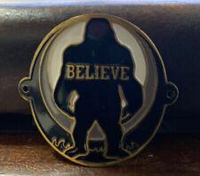 Black I Believe Hiking Staff Stick Medallion NEW Sasquatch