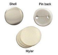 "lot of 500 Sets 1 1/2"" 37mm Clip Button Parts Supplies for Maker Machine"