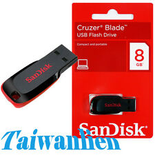 SanDisk USB Flash Pen Drive Memory Stick Cruzer BLADE 8GB 8G