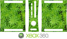 Xbox 360 cannabis Weed planta Vinilo Piel Decal Sticker