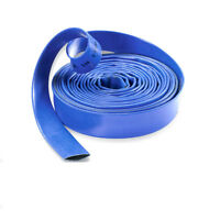 Yellow & Blue PVC Layflat Pipe - Water Delivery Discharge Hose Pump Irrigation