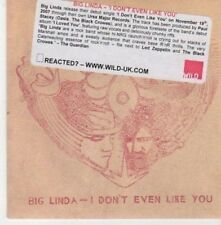 (BI885) Big Linda, I Don't Even Like You - 2007 DJ CD