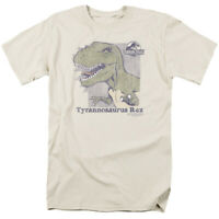 Jurassic Park Retro Rex T Shirt Mens Licensed Dinosaur Movie Tee Cream