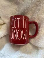 """Rae Dunn 2020 Red Christmas Mug """"LET IT SNOW"""" NEW!!! HTF!"""