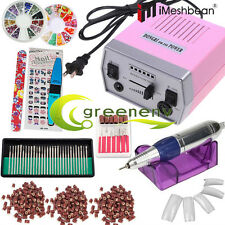 Professional Electric Nail File Drill Manicure Pedicure Machine Tool Bit Set Kit