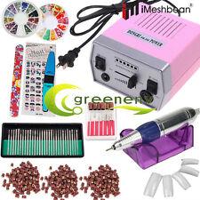 Professional Electric Nail File Drill Manicure Pedicure Machine Tool Bit Set Kit