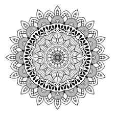 Black Oriental Mandala Design Sticker Decor Car, Fridge, Laptop, Wall Art Decal