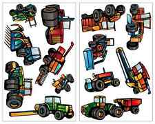 13 Stück Trecker Traktor Fahrzeug Wandtattoo Mähdrescher Landmaschine Aufkleber