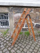 alte kleine Holzleiter Leiter aus Holz Raum Dekoration Rankhilfe Garten Terasse